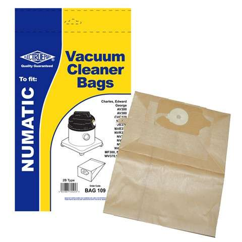 5 x 2B Dust Bags For Numatic EDWARD EVR370