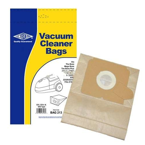 Dust Bags for Electrolux 104462 106552 106570 Pack Of 5 E51, E51n, E65 Type