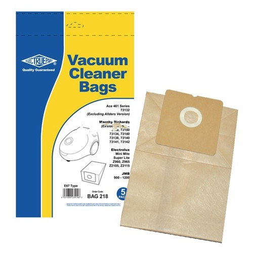 5 x Replacement Dust Bags For Morphy Richards Compact 731 Series Type:E67