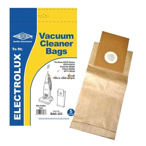 5x Dust Bags for Electrolux Boss 2272 Boss 2273 Boss 2274 E82, U82 Type