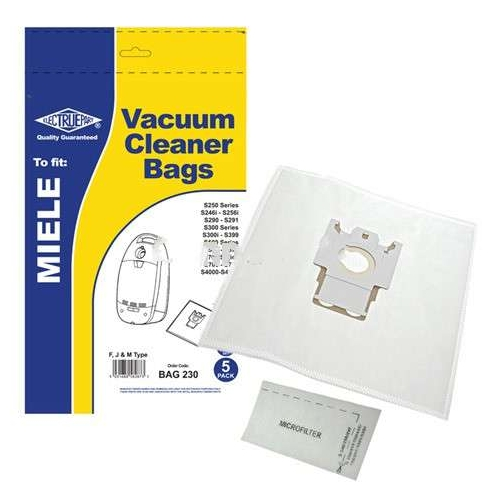 Replacement Vacuum Cleaner Bag For Miele S501 Pack of 5
