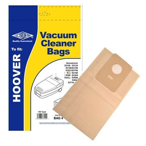 Replacement Vacuum Cleaner Bag For Hoover Sensotronic S3430 Pack of 5