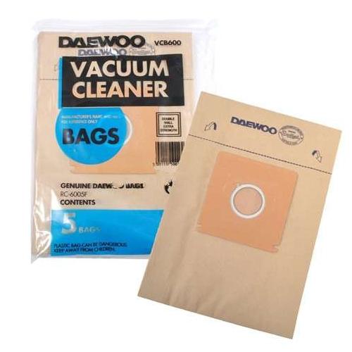 Original Daewoo RC6003F Vacuum Cleaner Bag Pack of 5