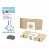 Original 5 PAPER DUSTBAGS + 1 MICROFILTER For Delonghi 498325