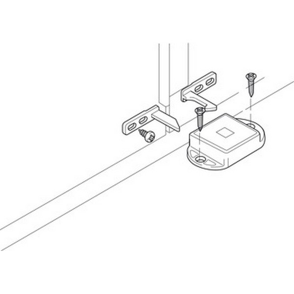 Hafele Porte Attraper pour vis de fixation en Alliage de Zinc automatique nickelé