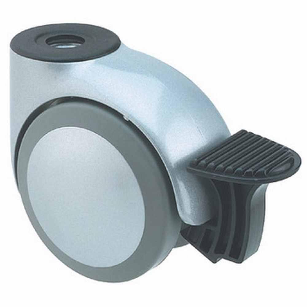 Hafele Swivel Twin Wheel Castor With Brake Ø 50 Mm Hooded Wheel Ø 50 Mm Load